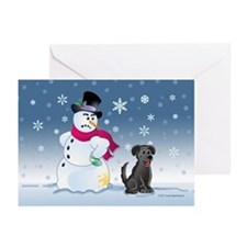 Black Lab and Snowman Greeting Cards (Pk of 20)
