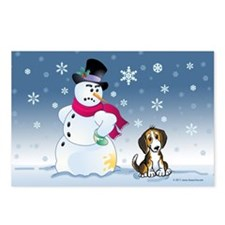 Funny Snowman and Beagle Postcards (Package of 8)