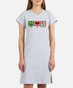 Peace Love Thanksgiving Women's Nightshirt