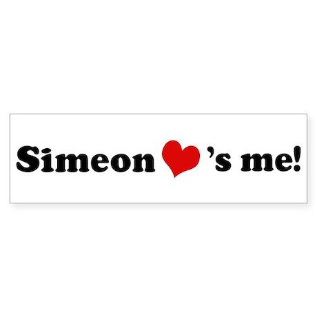 Simeon loves me Bumper Sticker