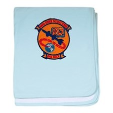 Naval Guided Missiles School Patch baby blanket