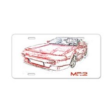 Cute Convertible Aluminum License Plate