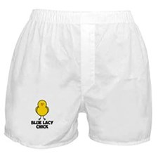Blue Lacy Chick Boxer Shorts