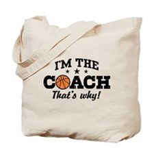 Basketball Coach Tote Bag