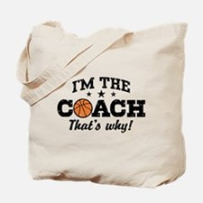 Basketball Coach Tote Bag