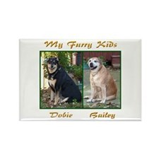 Bailey and Dobie Rectangle Magnet