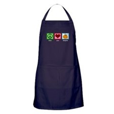 Peace Love Pumpkin Apron (dark)