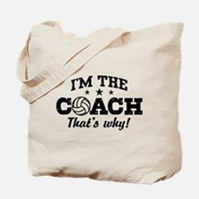 Volleyball Coach Tote Bag