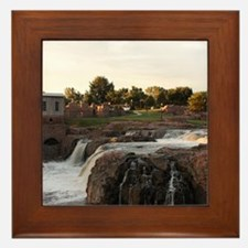 Sunrise on the Falls Framed Tile