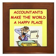 accountants Framed Tile