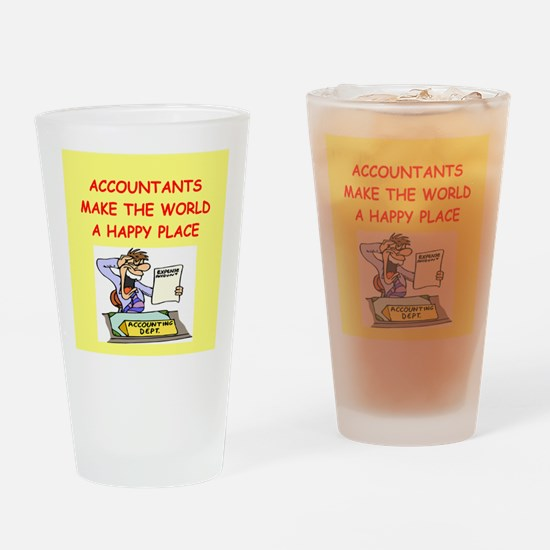 accountants Drinking Glass