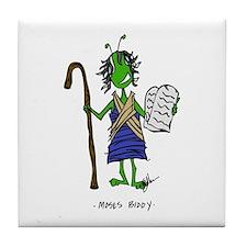 Moses Bible Biddy Tile Coaster
