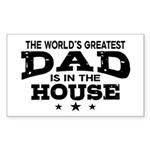 World's Greatest Dad Sticker (Rectangle)