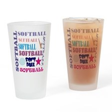Softball Repeating Drinking Glass