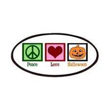 Peace Love Halloween Patches