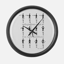 Hey Macarena! Large Wall Clock