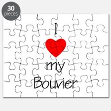 I Love My Bouvier Puzzle