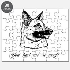 You had me at woof (gsd) Puzzle