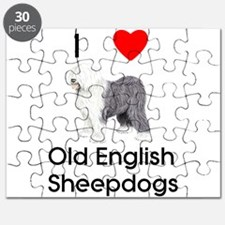 I Love Old English Sheepdogs Puzzle