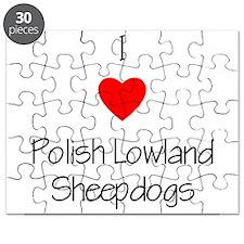 I Love Polish Lowland Sheepdo Puzzle