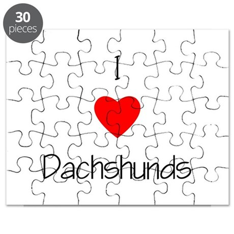 I Love Dachshunds Puzzle
