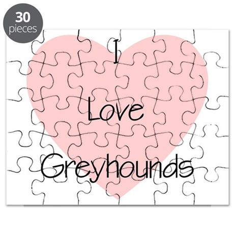 I Love Greyhounds Puzzle