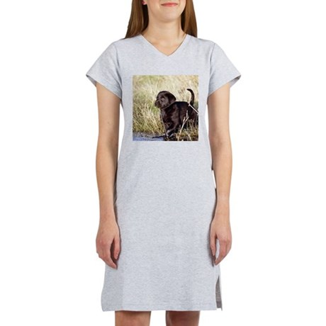 Black Lab Puppy Women's Nightshirt