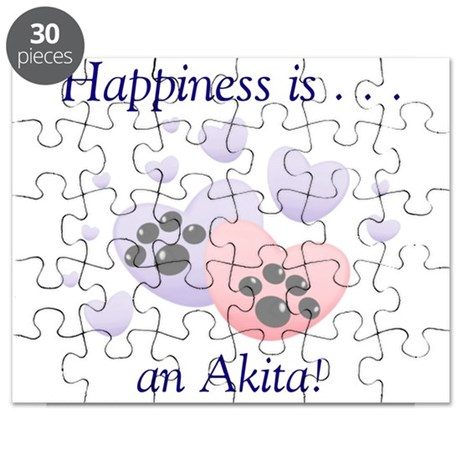 Happiness is...an Akita Puzzle