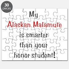 My Alaskan Malamute is smarte Puzzle