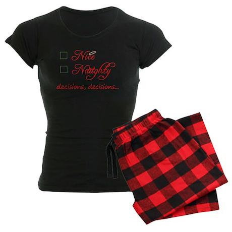 Nice or Naughty Women's Dark Pajamas