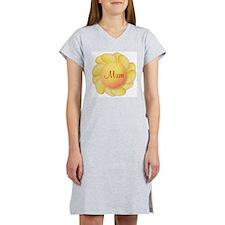 Mum (yellow flower) Women's Nightshirt