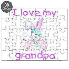 I love my grandpa (girl bunny Puzzle