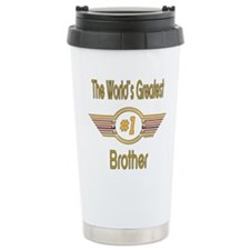 Number 1 Brother Stainless Steel Travel Mug