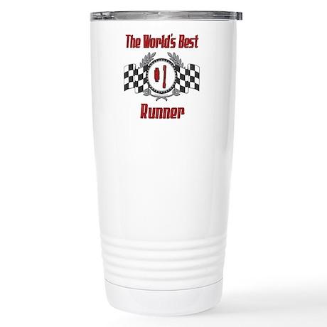 Racing Runner Stainless Steel Travel Mug