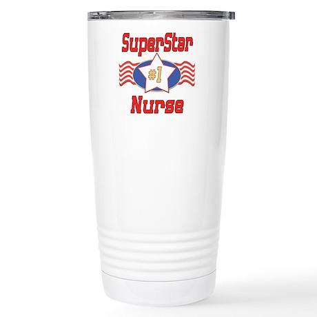 Superstar Nurse Stainless Steel Travel Mug