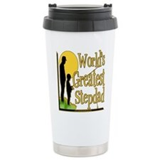 Best Step Dad Fishing Stainless Steel Travel Mug
