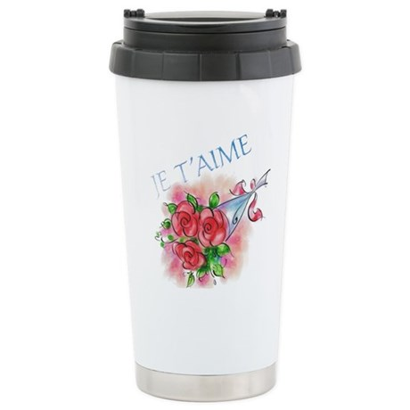 Je T'aime Stainless Steel Travel Mug