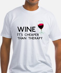 Wine Cheaper Than Therapy Shirt