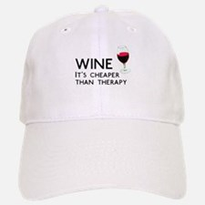 Wine Cheaper Than Therapy Baseball Baseball Cap