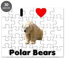 I Love Polar Bears Puzzle