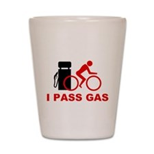 I PASS GAS bicyclist Shot Glass