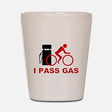 I PASS GAS bicyclist Shot Glass