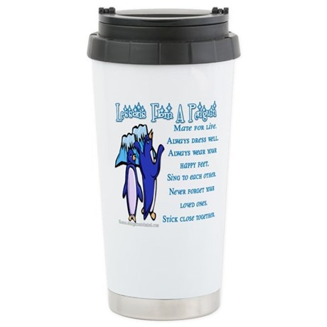 Lessons from a penguin Stainless Steel Travel Mug
