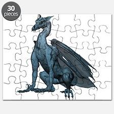 Sitting Blue Dragon (2) Puzzle