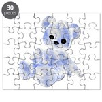 Blue & White Teddy Bear Puzzle