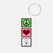 Peace Love Bunnies Keychains