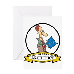 WORLDS GREATEST ARCHITECT CARTOON Greeting Card