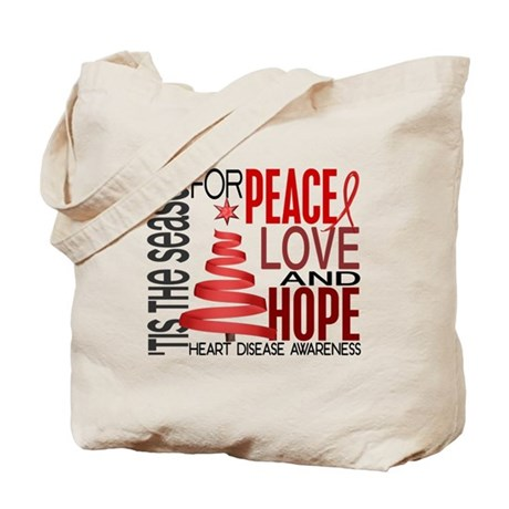 Christmas 1 Heart Disease Tote Bag