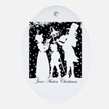 Jane Austen Gift Ornament (Oval)