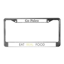 Cute Paleo License Plate Frame